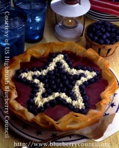 Red, White, and Blueberry Cheesecake courtesy of US Highbush Blueberry Council