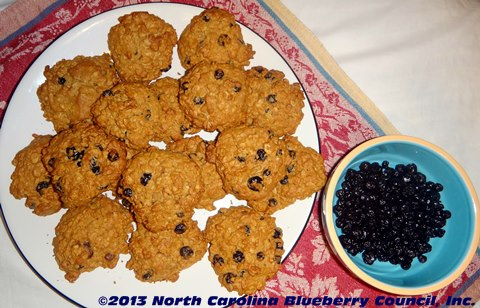 Oatmeal Blueberry Cookies from the kitchen of the North Carolina Blueberry Council!