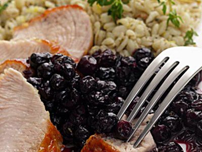image Turkey with blueberry pan sauce recipe