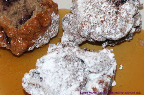 image: homemade blueberry whole wheat pancake puppies