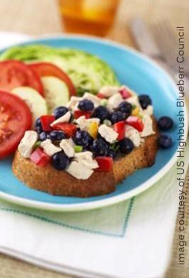 image all american chicken blueberry salad platter
