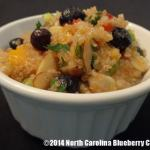 Blueberry Quinoa Salad recipe submitted to 2014 Our State Blueberry Recipe Contest