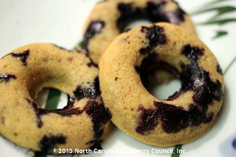image Blueberry Coconut Baked Doughnuts