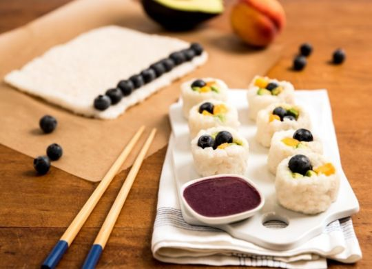 Blueberry Rice Roll Sushi